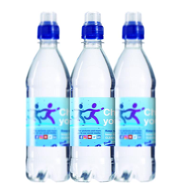 Waterflesje 500 ml met sportdop blauw