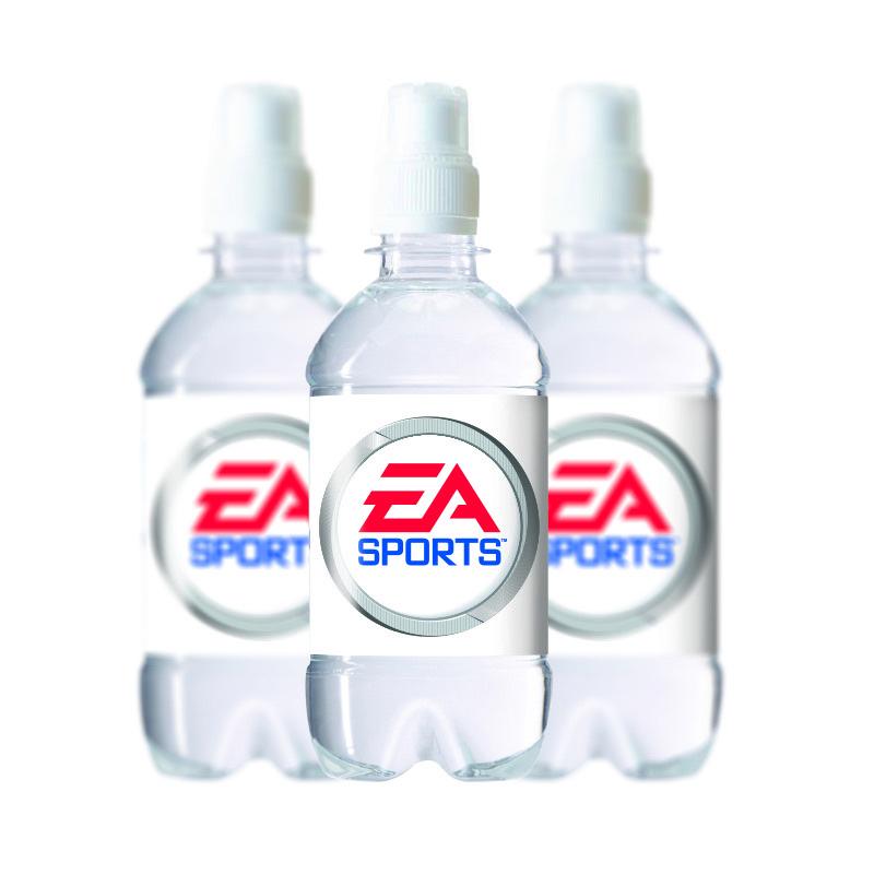 Waterflesje 330 ml met sportdop wit